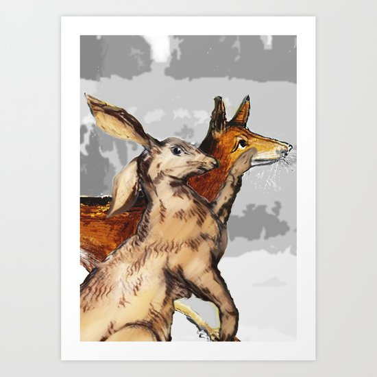 Faithful companions Art Print