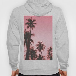 Tropical palm trees on beige pink Hoody