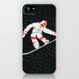 Snowboarder In The Air iPhone Case