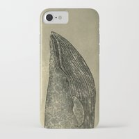 damask iPhone & iPod Cases featuring Damask Whale  by Terry Fan