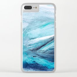 Iceland Blues Clear iPhone Case