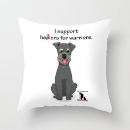 Schnoodle Supporting Healers Throw Pillow