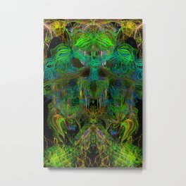Seaweed Ghost Breath (abstract, psychedelic, scary) Metal Print