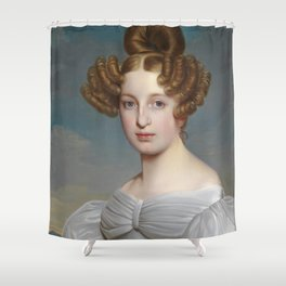 Portrait of Elise Dorothea Friederike by Ernst Thelott Shower Curtain
