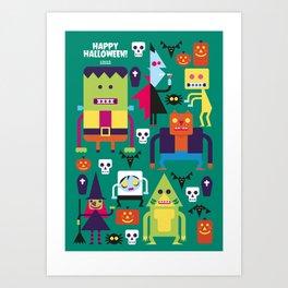 Halloween Hootenanny! Art Print