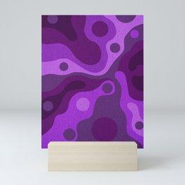 Groovy Psychedelic Purple Lava Shag Design Mini Art Print