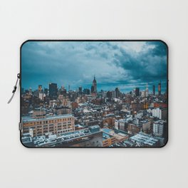 Moody skies over Manhattan Laptop Sleeve
