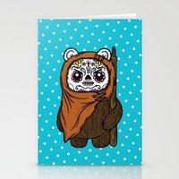 ewok Stationery Cards featuring Sugar Skull Ewok by Team Rapscallion