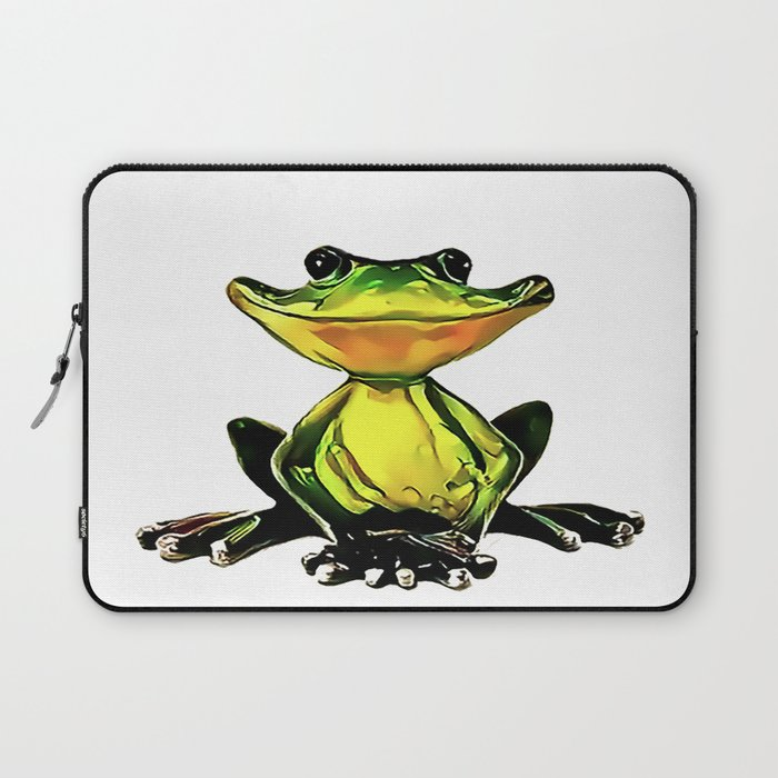 Jon Jade - The Cambodian Tree Frog Laptop Sleeve