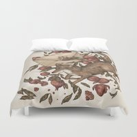 coyote Duvet Covers featuring Coyote Love Letters by Jessica Roux