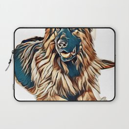 German shepherd portrait on white background        - Image Laptop Sleeve