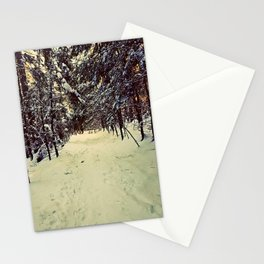 Wintery Snowshoe Hike Stationery Cards