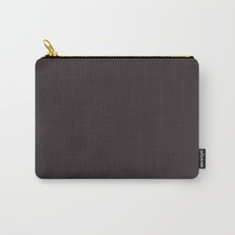 Solid Dark Charcoal Grey Color Carry-All Pouch