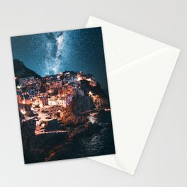manarola at night Stationery Cards