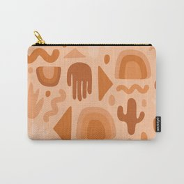 Orange Cutout Print Carry-All Pouch
