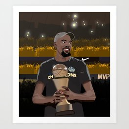 A new king is crowned in the NBA Art Print