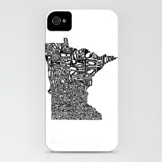 Typographic Minnesota iPhone (4, 4s) Slim Case