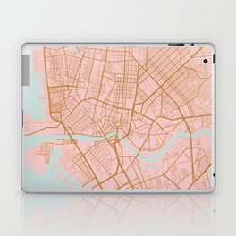 Pink and gold Manila map Laptop & iPad Skin