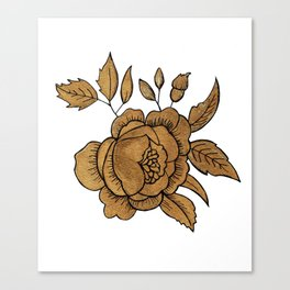 Rose in Gold Canvas Print