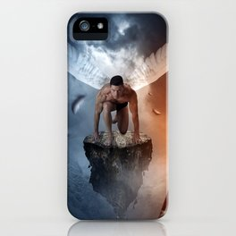 following the lights iPhone Case