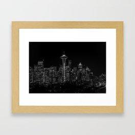 Seattle City Lights Framed Art Print
