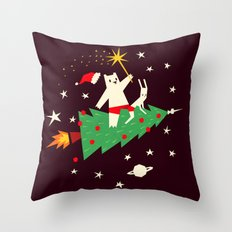 Space christmas Throw Pillow