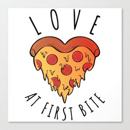 Love At First Bite Canvas Print