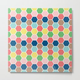 hexagon style2 Metal Print