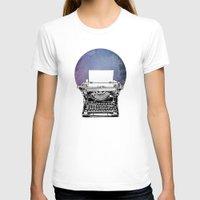 typewriter T-shirts featuring Typewriter by Rebecca Joy - Joy Art and Design
