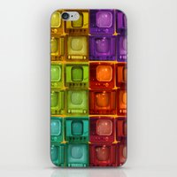 tv iPhone & iPod Skins featuring Coulored Televisions by PrinzPhotographie