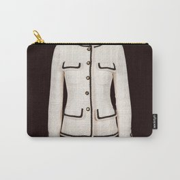 coco vintage black and white jacket Carry-All Pouch