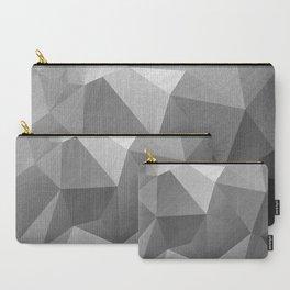 Grey polygonal geometric pattern . Carry-All Pouch