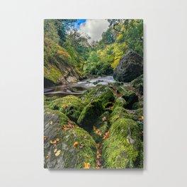 Fairy Glen Snowdonia Metal Print