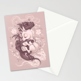 Dragon and Unicorn Stationery Cards
