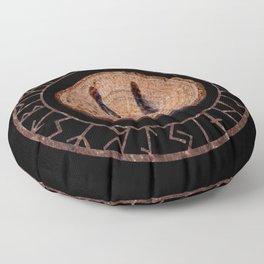 Hagalaz - Elder Futhark rune Floor Pillow