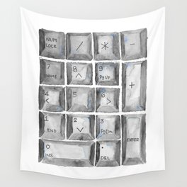 Number Pad Wall Tapestry