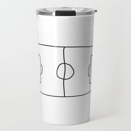 Football in Lines Travel Mug