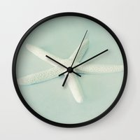 starfish Wall Clocks featuring starfish by The Last Sparrow