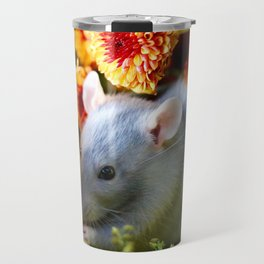 Sweet Floral Rat Travel Mug