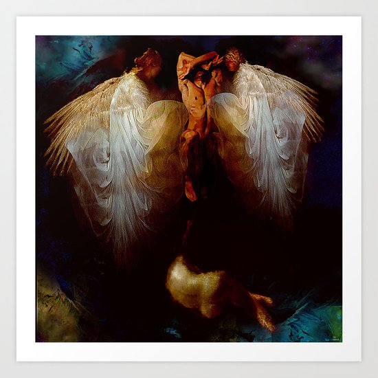 Ascension  of the soul Art Print