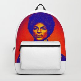 A digitally drawing of Prince (colour) Backpack