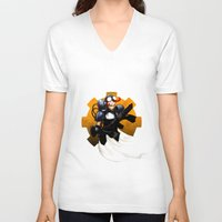 israel V-neck T-shirts featuring ART SLAM LIVE™ Apparel by Tony Snipes