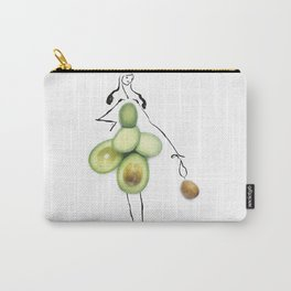 Edible Ensembles: Green Avocado Carry-All Pouch