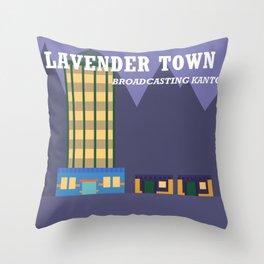 Lavender Town Throw Pillow