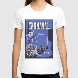 Vintage Havana Cuba Carnival 1946 T-shirt