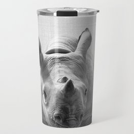 Baby Rhino - Black & White Travel Mug