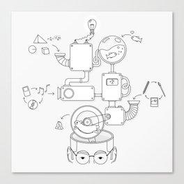 How the creative brain works? Canvas Print