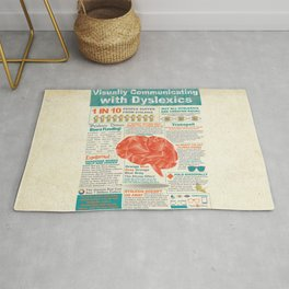 Visually Communicating with Dyslexics Infrographic Rug