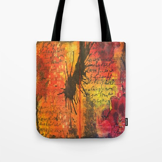 Symphony In Red Tote Bag