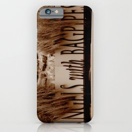 Angles with Bagpipes iPhone Case